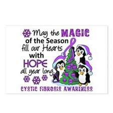 Holiday Penguins Cystic Fibrosis Postcards (Packag