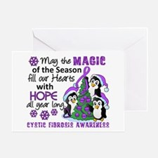 Holiday Penguins Cystic Fibrosis Greeting Card