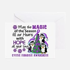 Holiday Penguins Cystic Fibrosis Greeting Cards (P