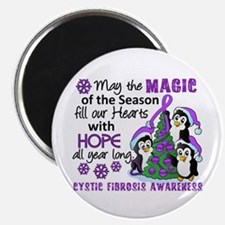 "Holiday Penguins Cystic Fibrosis 2.25"" Magnet (10"