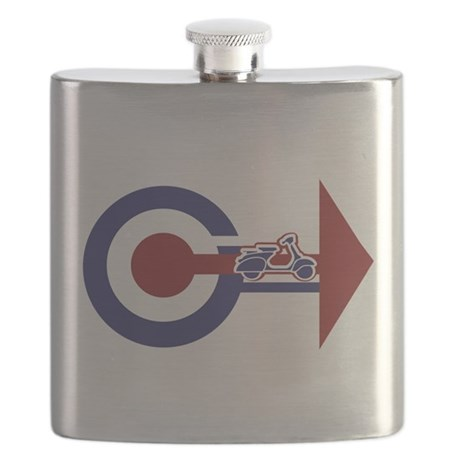 Retro Mod Target and scooter Arrows Flask