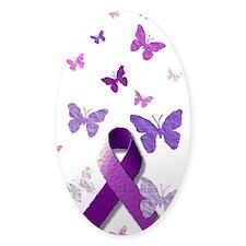 Purple Awareness Ribbon Decal