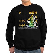 Holiday Penguins Childhood Cancer Sweatshirt