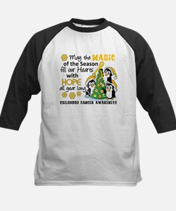 Holiday Penguins Childhood Cancer Tee