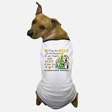 Holiday Penguins Childhood Cancer Dog T-Shirt