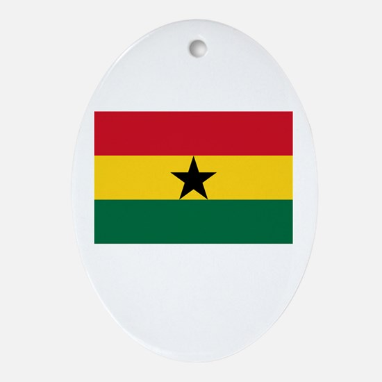 Ghana Flag Picture Oval Ornament