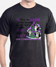 Holiday Penguins Chiari Malformation T-Shirt