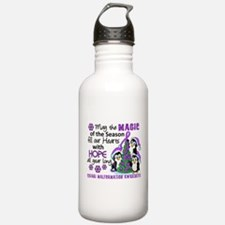 Holiday Penguins Chiari Malformation Water Bottle
