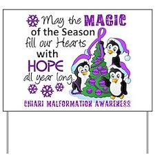 Holiday Penguins Chiari Malformation Yard Sign