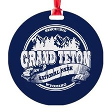 Grand Teton Old Circle Round Ornament