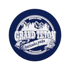 "Grand Teton Old Circle 3.5"" Button"