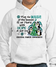 Holiday Penguins Cervical Cancer Hoodie