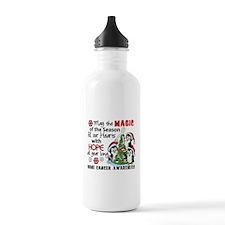 Holiday Penguins Bone Cancer Water Bottle