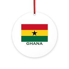 Ghana Flag Stuff Ornament (Round)