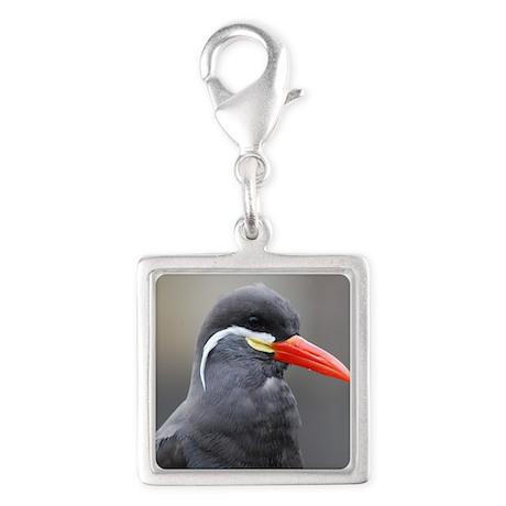 Inca Tern Silver Square Charm