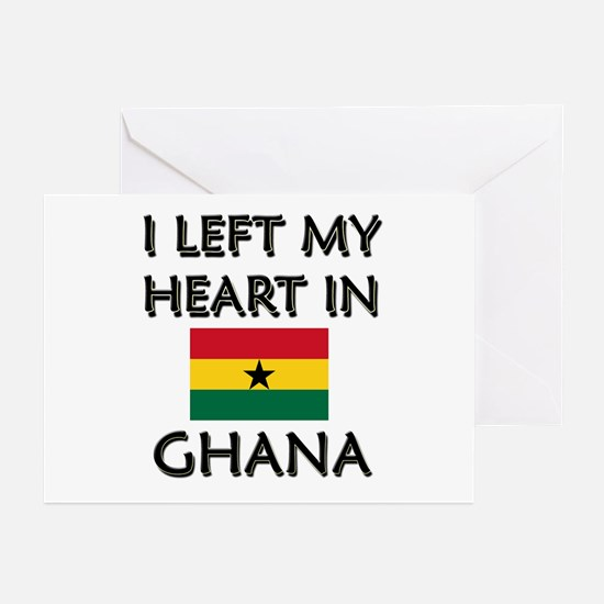 I Left My Heart In Ghana Greeting Cards (Package o