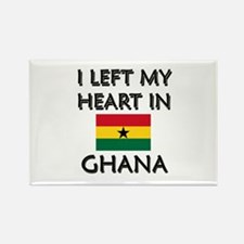I Left My Heart In Ghana Rectangle Magnet