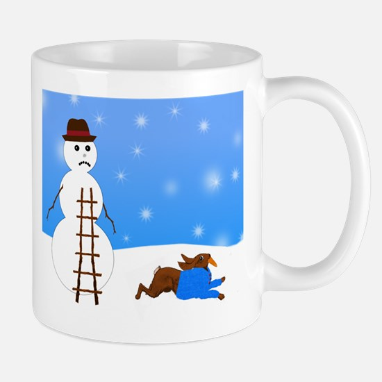 Snowman and Naughty Bunny Mug
