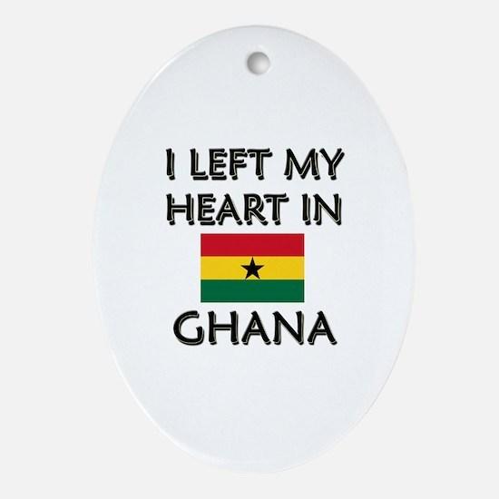 I Left My Heart In Ghana Oval Ornament