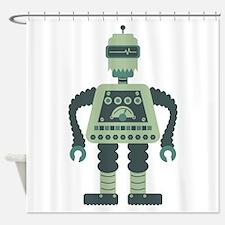 Digital Robot Shower Curtain