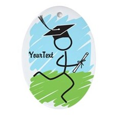 Customize Graduate Runner Ornament (Oval)