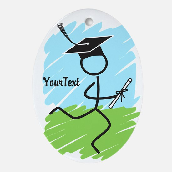 Customize Graduate Runner Ornament (Oval)