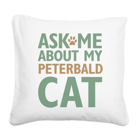 catpeterbald-01.png Square Canvas Pillow