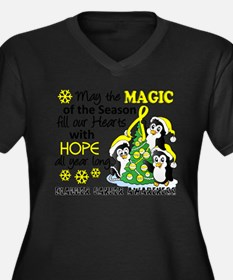Holiday Penguins Bladder Cancer Women's Plus Size