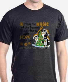 Holiday Penguins Appendix Cancer T-Shirt