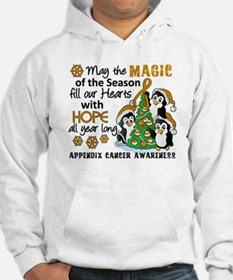 Holiday Penguins Appendix Cancer Hoodie