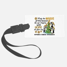 Holiday Penguins Appendix Cancer Luggage Tag