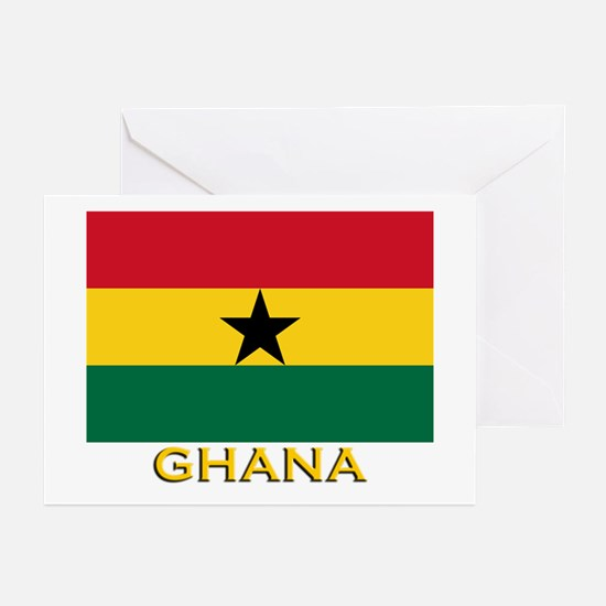 Ghana Flag Gear Greeting Cards (Pk of 10)