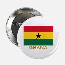 Ghana Flag Gear Button