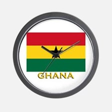 Ghana Flag Gear Wall Clock