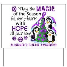 Holiday Penguins Alzheimer's Disease Yard Sign