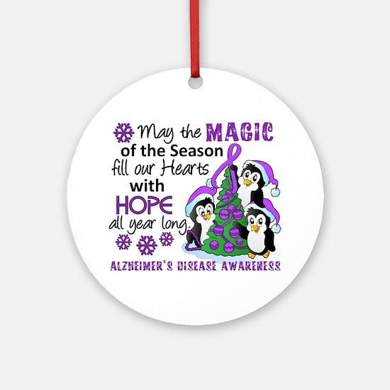 Holiday Penguins Alzheimer's Disease Ornament (Rou