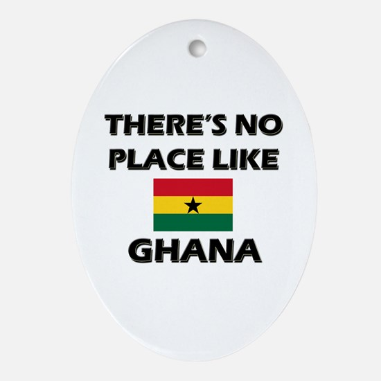 There Is No Place Like Ghana Oval Ornament