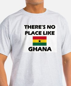 There Is No Place Like Ghana Ash Grey T-Shirt