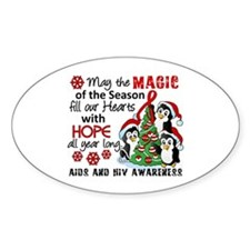Holiday Penguins AIDS and HIV Decal