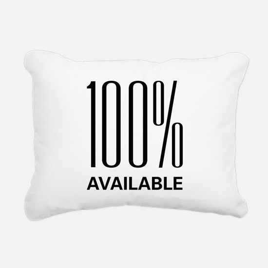 100available.png Rectangular Canvas Pillow