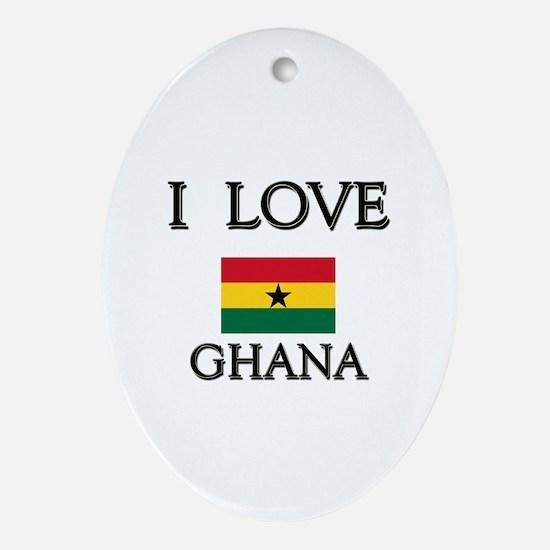 I Love Ghana Oval Ornament