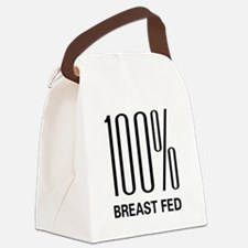 100breastfed.png Canvas Lunch Bag