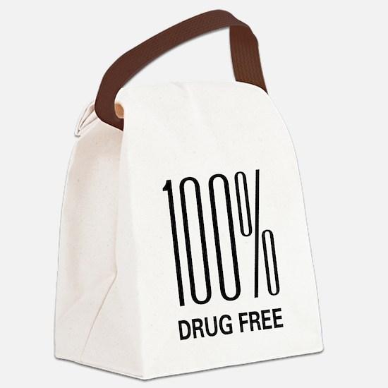 100 Percent Drug Free Canvas Lunch Bag