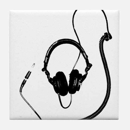 Unique Dj Headphones T Shirt Tile Coaster