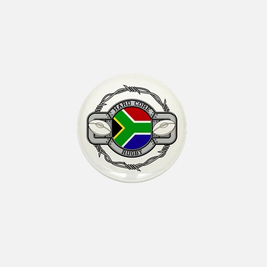 Hard Core South Africa Rugby Mini Button