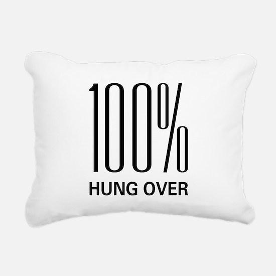 100hungover.png Rectangular Canvas Pillow
