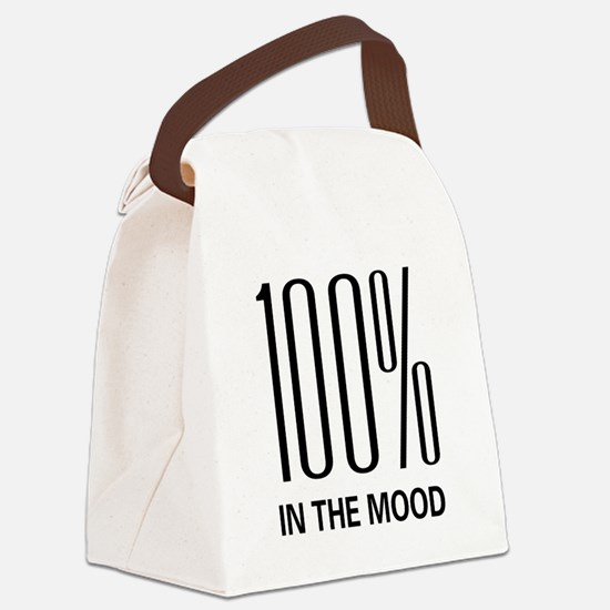 100inthemood.png Canvas Lunch Bag