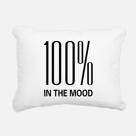 100inthemood.png Rectangular Canvas Pillow