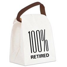 100retired.png Canvas Lunch Bag