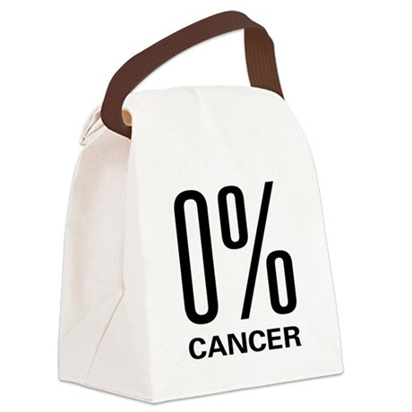 0cancer.png Canvas Lunch Bag